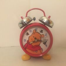 Winnie the Pooh - Twin Bell Alarm Clock - Disney - Quartz - Honey Pot - Bees