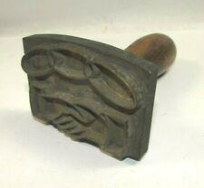 Unusual 1900's Odd Fellows IOOF Heavy Brass Stamp or Branding Iron