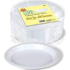 254x22.9cm blanc plastique rond jetables Barbecue fête assiette