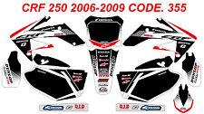 355 HONDA CRF 250 2008 2009 Autocollants Déco Graphics Stickers Decals Kit
