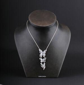 GEORG JENSEN Sterling Pendant # 615A. Oxidized Silver. Askill. Jordan Askill.