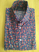 NWOT Brooks Brothers Golden Fleece Navy Red Floral 16-33.5 Medium MSRP $225