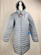 Columbia Women's XL Flash Forward Long Down Jacket Coat Tradewinds Grey