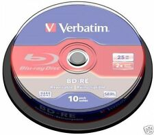 Verbatim Bd-re SL 25gb Spindel 10 Disc