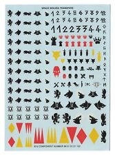 Space Wolves TRANSFER SHEET Transfers Decals Warhammer 40k Marines Decal Fenris