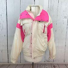Sun Ice Sunice Women's Vintage White Hot Pink 80s 90s Ski Jacket Snow Size Small