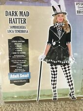 Adult Dark Mad Hatter Costume Size Small
