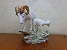 1984 Homco Big Horn Sheep Porcelain Figurine Home Interiors Ram Lamb W/Box Mint!