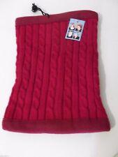 Gaiter 4 In 1 Knit Fleece Neck Warmer Headgear Unisex One Size Reversible New