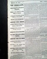 ZAGONYI'S CHARGE First Battle of Springfield Missouri 1861 Civil War Newspaper