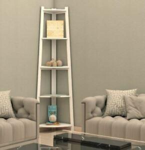 BRAND NEW   BOXED Corner Ladder Shelf Bookcase Display Storage Unit