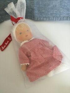 """Kathe Kruse 8"""" Waldorf Little Girl Doll NEW With Tags So Cute In Kruse Bag"""