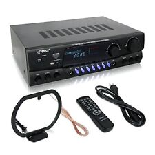 Pyle 300 Watt Home Audio Power Amplifier - Stereo Receiver w/USB, AM FM Tuner, 2