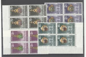Thailand 1975 Masks Mint NH Blocks Of 4