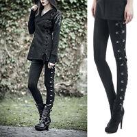 Women Gothic Punk Leggings High Waist Skinny Pants  Halloween Trousers Lad PxJC