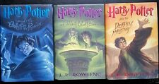 Harry Potter LOT of 3 Hardcovers: 5 Phoenix 6 HalfBlood Prince 7 Deathly Hallows
