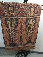 Indonesian Ikat Cloth, hand woven, shoulder cloth, Unique, Intricate Details