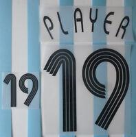 Set Flock Nameset home Trikot jersey shirt Argentinien Argentina 2006
