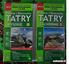 TATRAS Tatry Tatra Mountains Western and Eastern Hiking Map PLASTIC - Poland