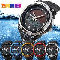 SKMEI Multi-Function Solar Energy Waterproof Watch Analog Digital Wristwatch New