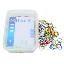 SIBEL strong small hair elastic bands for braiding 15mm - ASSORTED COLOURS x 500