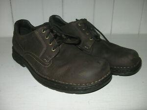 MERRELL Men's World Rambler Dark Earth Leather Ortholite Oxford Shoe Sz 13