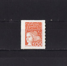 timbre France  Marianne  1f orange  autocollant  3101c  type II  **