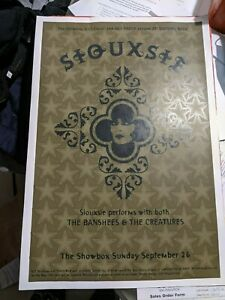An Evening with Siouxsie Sioux Original Concert Poster VH1 Banshees Creatures
