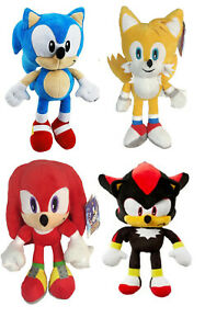 NEW OFFICIAL SEGA SONIC THE HEDGEHOG SOFT PLUSH TOYS KNUCKLES SHADOW TAILS SONIC