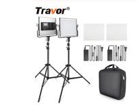 2 in 1 Bi-color LED Video Light kit studio light U Bracket camera photography