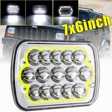 "7""x6"" 180W LED Headlight Hi/Lo Halo Ring DRL for Chevrolet GMC Jeep Cherokee XJ"