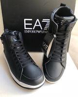 Scarpe Uomo Emporio Armani EA7 248014 7A258 Stivaletti Sneakers Alte Nere Nuove