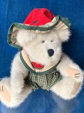 "Vintage Boyd's Bear SUGAR McRIND Watermelon Rind Hat Seed Bib Overall 11"" ❤️sj3j"