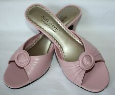 Womens NEW Hush Puppies Soft Style Pink Sandals Slip On Shoes Size 6.5M