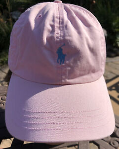 Polo Ralph Lauren Pink Adjustable Baseball Cap Hat Embroidered Teal Pony