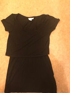 H&M Black - T-shirt Style Nursing Sleeved Tops Size Small 8/10