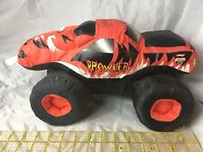 "Monster Jam PROWLER  Stuffed Plush Pillow Truck SIGNED Good Stuff  Toy 14"" 2007"