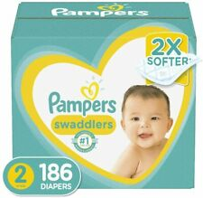 Pampers Swaddlers Disposable Baby Diapers Size 2, 186 Count ONE MONTH SUPPLY AMM