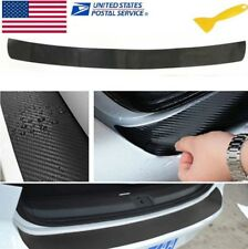 4D Black Carbon Fiber Look Auto Rear Trunk Tail Lip Protect Anti Scratch Sticker