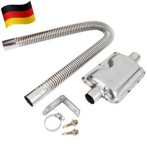 120cm Abgasschlauch Abgasrohr + φ25mm Abgasschalldämpfer Standheizung Edelstahl
