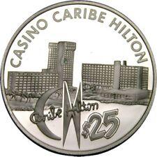 elf Puerto Rico San Juan Casino Caribe Hilton $25 Silver Proof c. 1978 FM