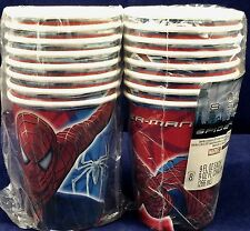 Hallmark Marvel Spider-man 3 Birthday Party Cups 16 Cups 9 FL OZ Each Paper NEW