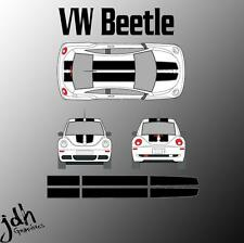 Volkswagen Beetle Rally Racing Stripes Vinyl Decal Sticker Graphics Kit Car