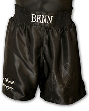 *New* Nigel Benn Signed Custom Made Rare Boxing Trunks
