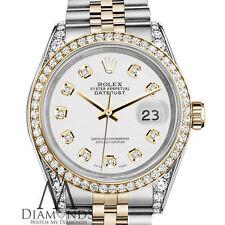 Ladies White Rolex Stainless Steel 18KGold 26mm Datejust Diamond Jubilee Watch