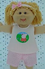 """Play n Wear Doll Clothes To Fit 16"""" Cabbage Patch BUTTERFLY PANTS~TOP~HEADBAND"""
