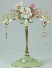 Gorgeous Orchid & Golden Earring Jewellery Holder Diamantes 18.5cm **LAST ONE**