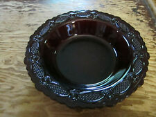 Avon 1876 Cape Cod Ruby red glass collection cereal bowl