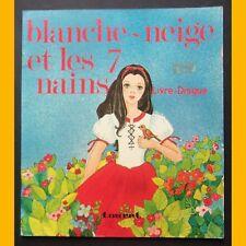 Livre-disque BLANCHE-NEIGE ET LES 7 NAINS Éditions Touret 1977