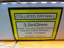 Collated Drywall Screws box of 1000 3.9x42mm coarse thread